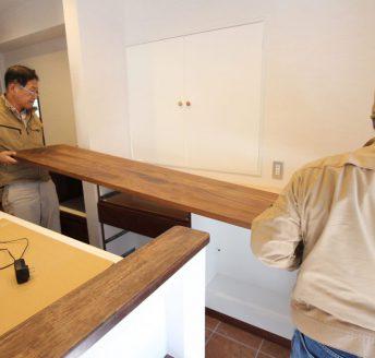 オリジナル家具と仕上げ